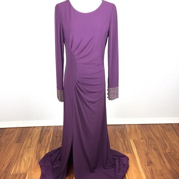 7f2685d6cb Calvin Klein Dresses   Skirts - Calvin Klein Sz 6 Formal Long Sleeve Gown  Dress
